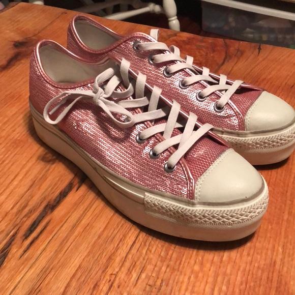Chuck Taylor All Star Platform Sequins Pink 5e60e7548